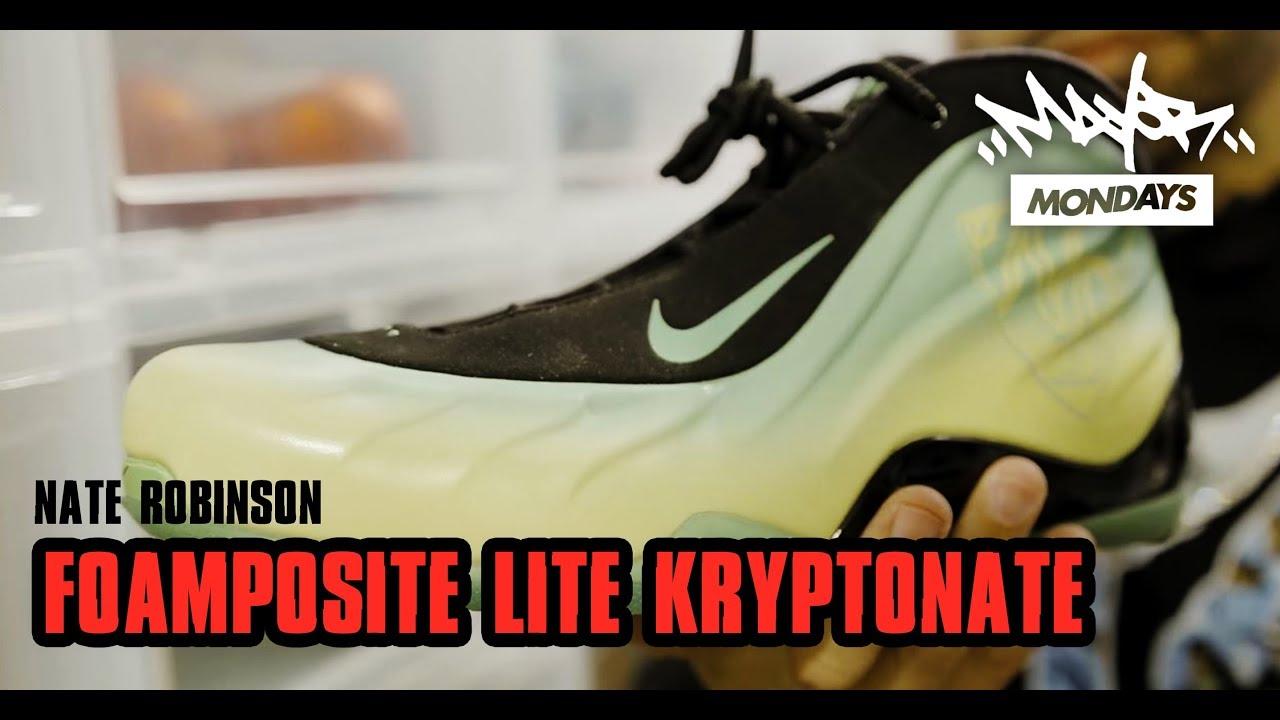 new product 31cdb bb9a5 Nike Nate Robinson Foamposite Lite  Kryptonate    Mayor Mondays