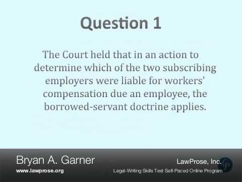 Bryan Garner's Legal-Writing Skills Test - YouTube