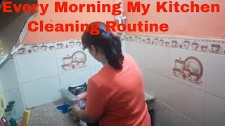 Indian Kitchen Cleaning Routine/Morning Kitchen Cleaning Routine/Daily Kitchen Cleaning/cleaning !!