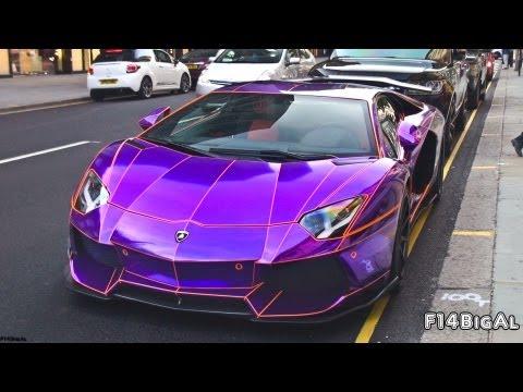 chrome purple lamborghini aventador loud sounds youtube - Lamborghini Aventador Chrome Purple
