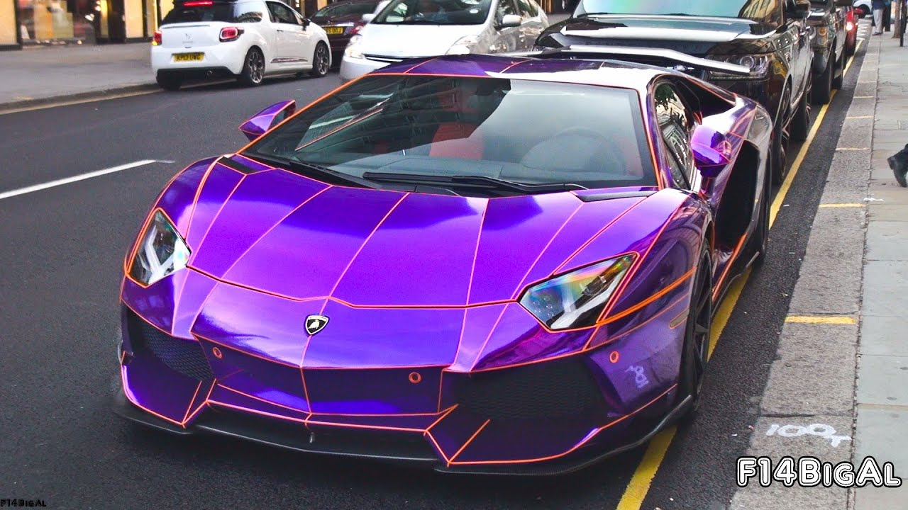 Chrome Purple Lamborghini Aventador Loud Sounds Youtube