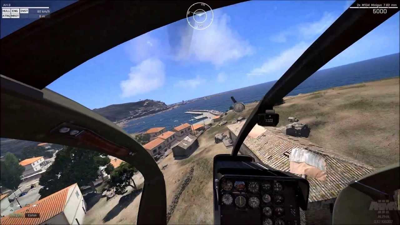 ARMA 3 + TRackIR 5 6DOF Chopper flight (Amazing pilot ...