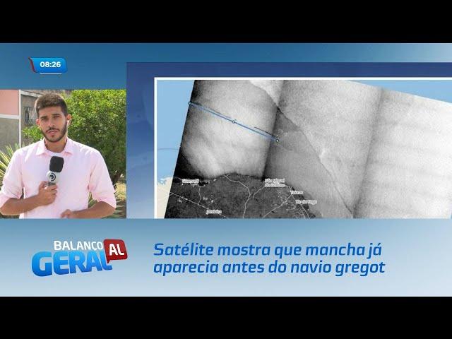 Satélite mostra que mancha já aparecia antes do navio grego