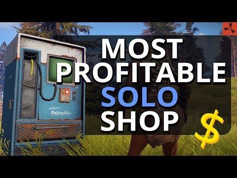 The MOST Profitable Solo SHOP Ever?!! Rust Solo Survival S15 Ep3