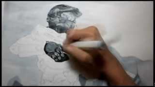Halo 4:  Master Chief drawing