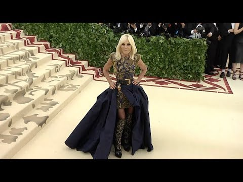 Donatella Versace at the 2018 MET Gala
