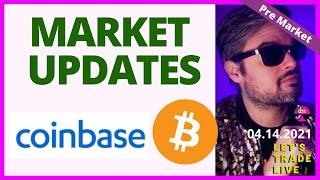Coinbase IPO, Bitcoin, Ethereum, MARA, Riot + JPM, BBBY, JBLU = STOCK MARKET PRE MARKET