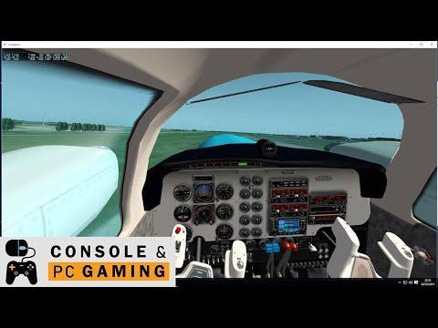 Xplane 10 Beechcraft Baron 58 quick look