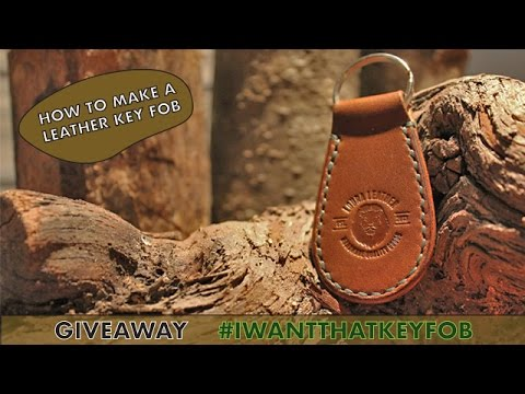 making of a leather key fob tutorial with free template