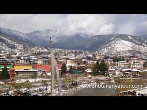 Beautiful Snowfall in Thimphu Bhutan