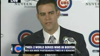 Theo Epstein - Cubs Press Conference 10-25-11 (Part 1)