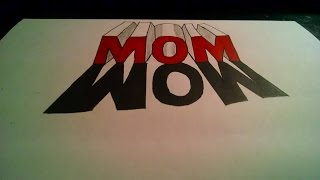 How To Draw Mom Letters In 3D