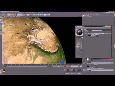 CINEMA 4D Tutorial - Create realistic Earth