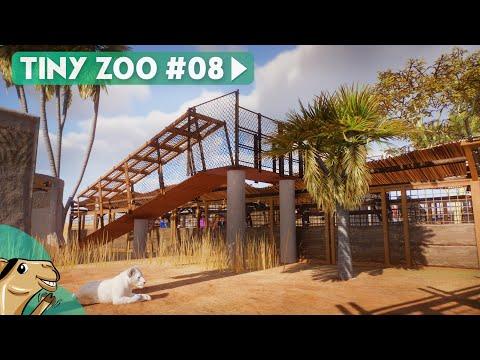 Tiny Zoo  Lion Overpass & Rock Habitat  Planet Zoo Hardmode Gameplay