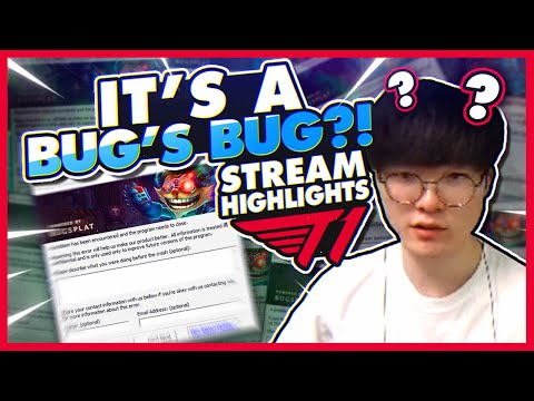 Faker Finds A Bug? | T1 League Of Legends Funniest Moments On Stream