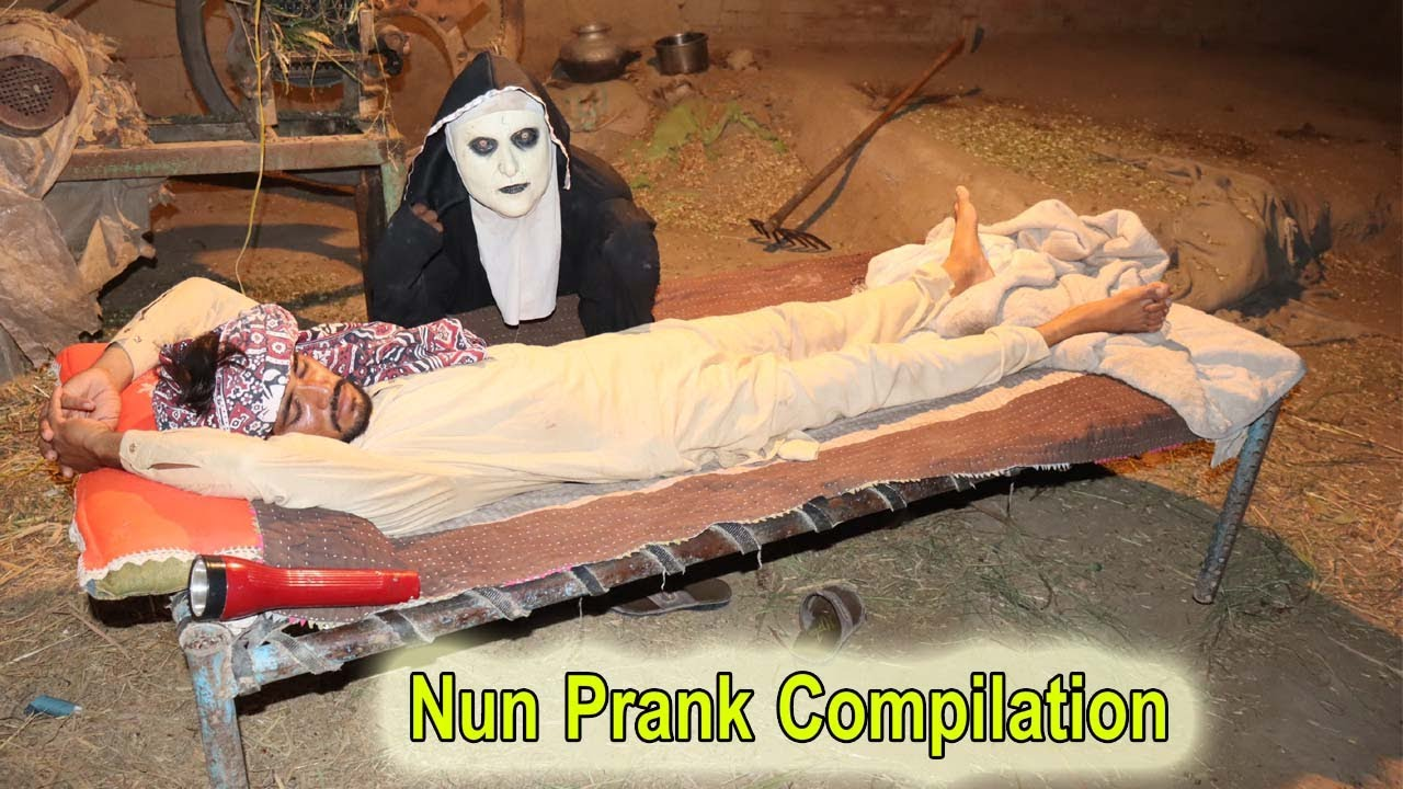 FUNNIEST Scare Pranks COMPILATION | Nun Prank Video | Try Not To Laugh Challenge |#viral