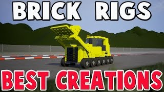 Brick Rigs Mods - DUMP TRUCK, DRAG TRUCK, F1 CAR + MORE - Brick Rigs Best Creations Gameplay