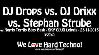 DJ Drops vs  DJ Drixx vs  Stephan Strube @ Norris Terrify Bday Bash, SKY CLUB Leipzig   23.11.2013