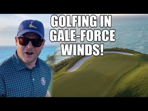 Golfing In 40 MPH Winds, Riggs Vs Port Royal, 16th Hole