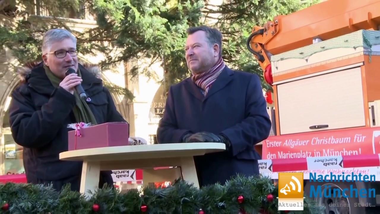 Weihnachten 2016 - München hat seinen Christbaum bekommen - YouTube