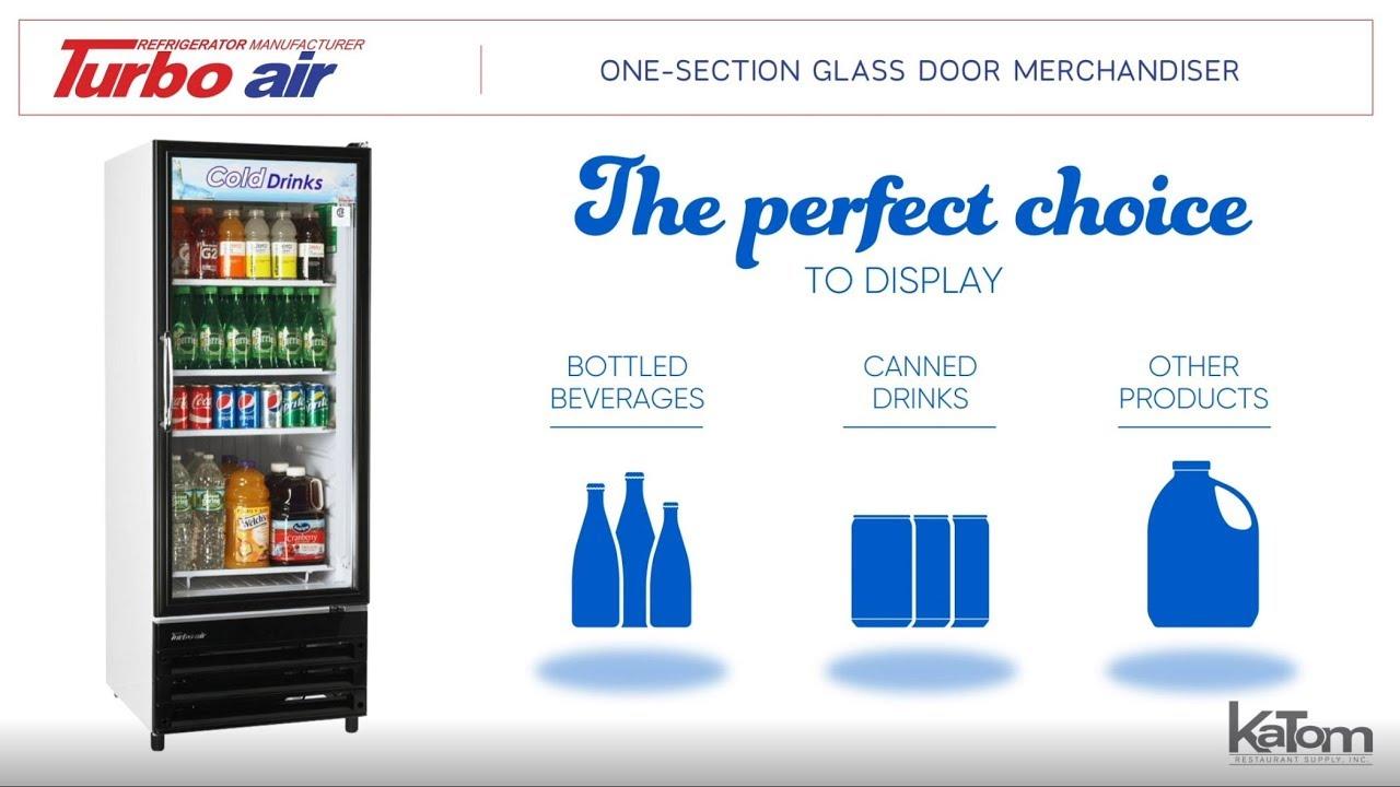 Turbo Air 24 In One Section Glass Door Merchandiser Youtube