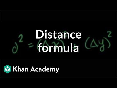 Distance formula | Analytic geometry | Geometry | Khan Acade