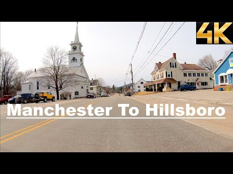 Driving From Manchester To Hillsboro, New Hampshire, USA