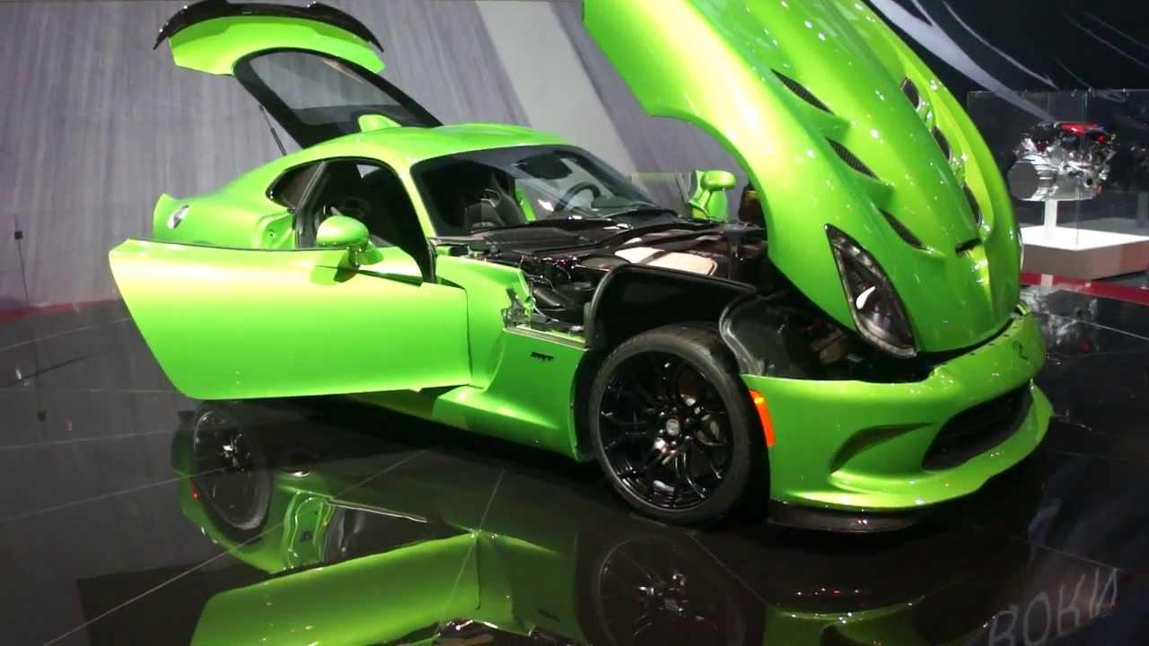 srt dodge viper sports car 2014 autoshow muscle car v10 engine youtube. Black Bedroom Furniture Sets. Home Design Ideas