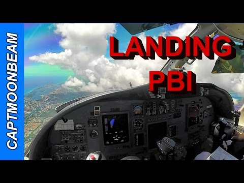 Cessna Citation Landing West Palm Beach Fl Airport, Live ATC