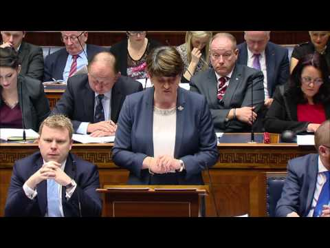 Full Statement by Arlene Foster to NI Assembly
