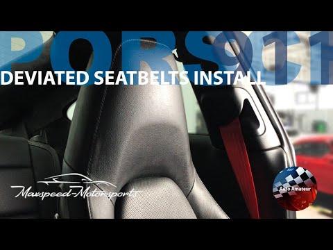 Deviated Seat Belts – Install DIY – Porsche 911