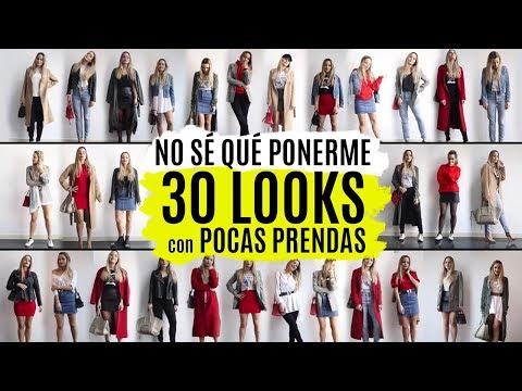 30 looks con pocas prendas |  LOOKBOOK ARMARIO CÁPSULA 2018