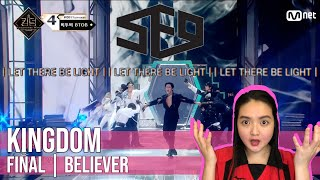♬ 숨 |Believer| - SF9(에스에프나인)ㅣ파이널 경연#KINGDOM EP.10 REACTION