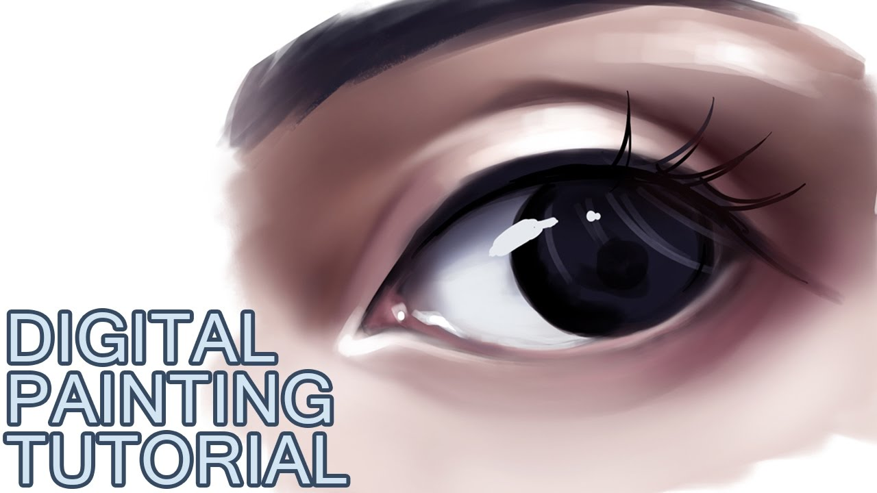 digital painting tutorial how to paint a semi realistic eye youtube