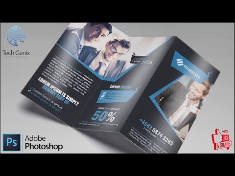 Business Tri fold Brochure Design   Photoshop Tutorial thumbnail