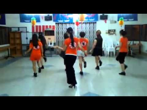 RINDU - Line Dance Demoed By ADELINE CHENG & STUDENTS