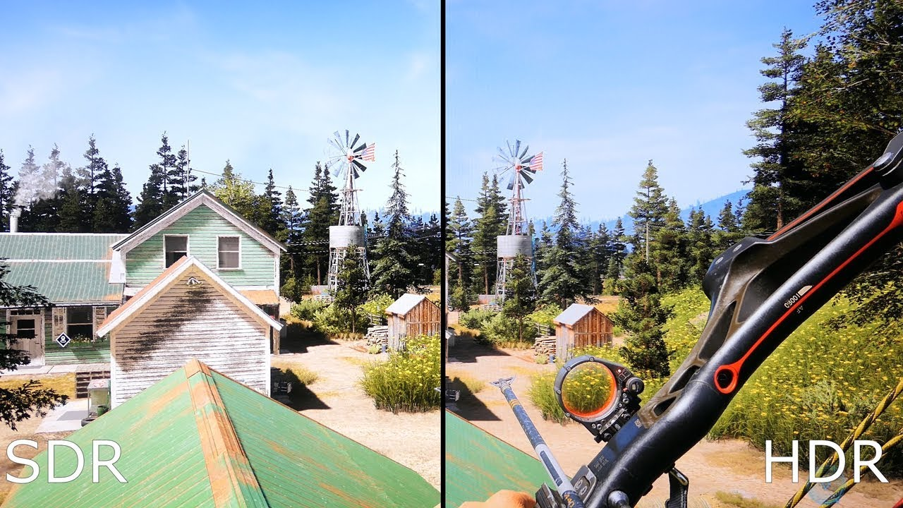 Far Cry 5 HDR vs SDR GTX 1060 LG 27UK600