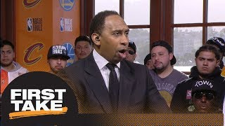 stephen a only way cavaliers can win nba finals is by hitting perimeter shots first take espn