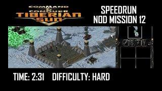 SPEEDRUN: C&C Tiberian Sun Nod Mission 12 (Hard). NO GLITCH.