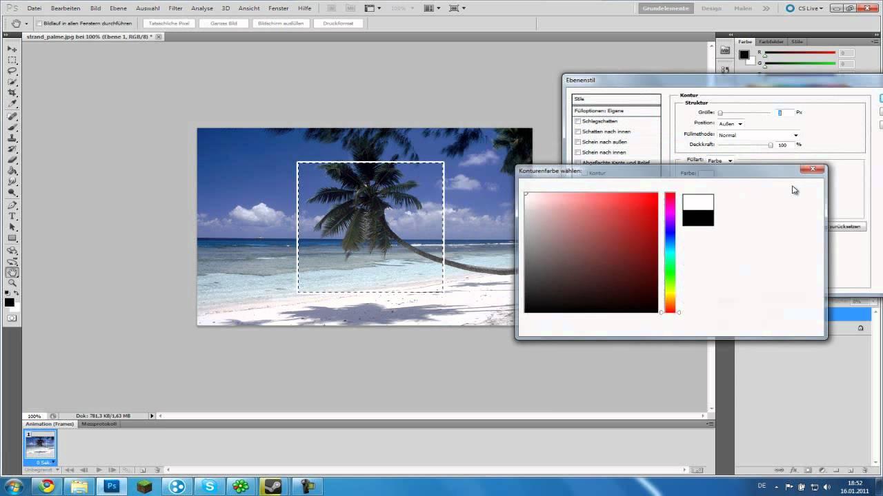 Photoshop] Tutorial Schönen Rahmen erstellen - YouTube