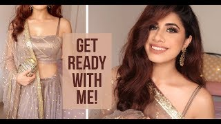Get Ready With Me for a Wedding! | Makeup, Hair, Outfit & Jewellery...! | Malvika Sitlani