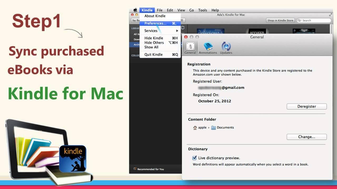 kindle app serial number mac