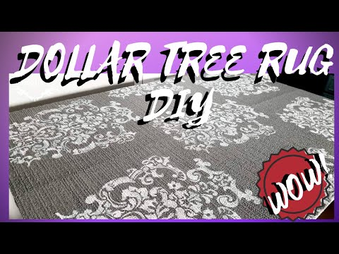 AWESOME DIY DOLLAR TREE CARPET RUG TUTORIAL || ONLY $6!!