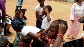 Yoruba cultural dancer in Zion school Kaduna