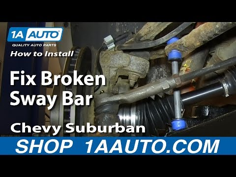 How to Replace Sway Bar Link 00-06 Chevy Suburban - YouTube