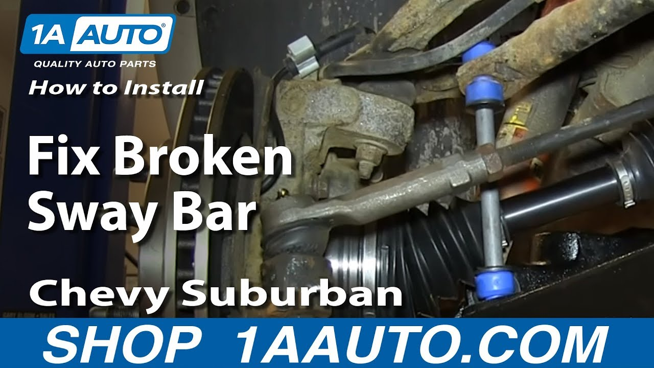 How To Install Replace Fix Broken Sway Bar Link 200006 Chevy Suburban Tahoe GMC Yukon  YouTube