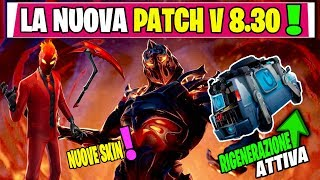 NOUVEAU PATCH UPDATE 8.30 FORTNITE LIVE ITA REBOOT FURGONE