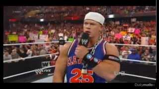WWE Raw 3/13/2012 John cena Worldlife Returnz! part 1
