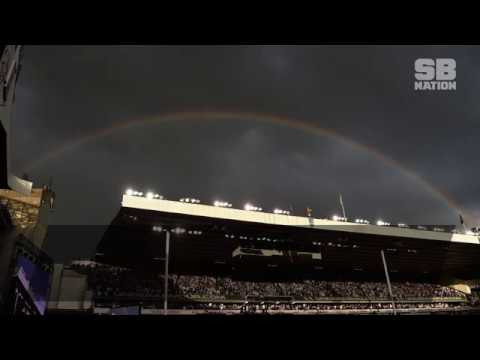 Spurs say goodbye to White Hart Lane with a rainbow