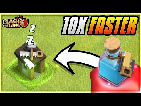10X SPEED OF BUILDERS BY USING BUILDER POTION IN CLASH OF CLANS